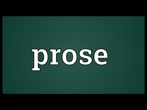 Prose Meaning