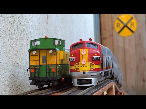 Big Model Trains Running In and Out Of My House!