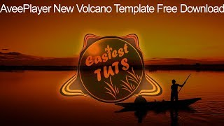 New Avee Player Audio Spectrum Volcano Template Free Download 2020