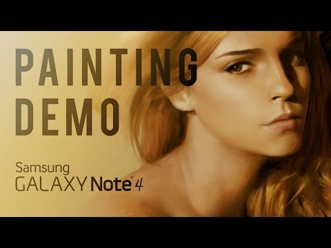 Painting Demo on Samsung Galaxy Note 4 - Emma Watson