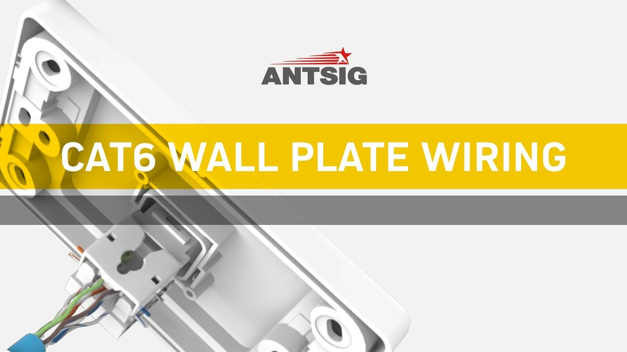 antsig how to wire a cat6 wall plate youtube. Black Bedroom Furniture Sets. Home Design Ideas