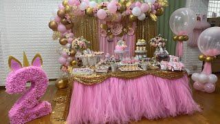 يونيكورن🦄  لمحبي تميز تنسيق وافكارحفلة عيدميلاد يونيكورن تحضيراتي لحفلة عيد ميلاد بنتي اليابان 🇯🇵