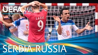Futsal EURO Highlights: Watch Russia beat hosts Serbia in extra time