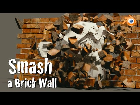 Blender Physics Tutorial : Smash a Brick Wall