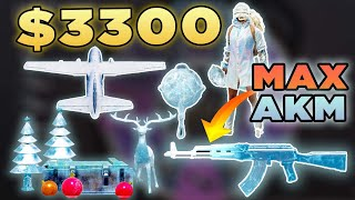 I SPENT $3300 TO GET ALL THE GLACIER SKINS!!! (AKM MAX!!!)