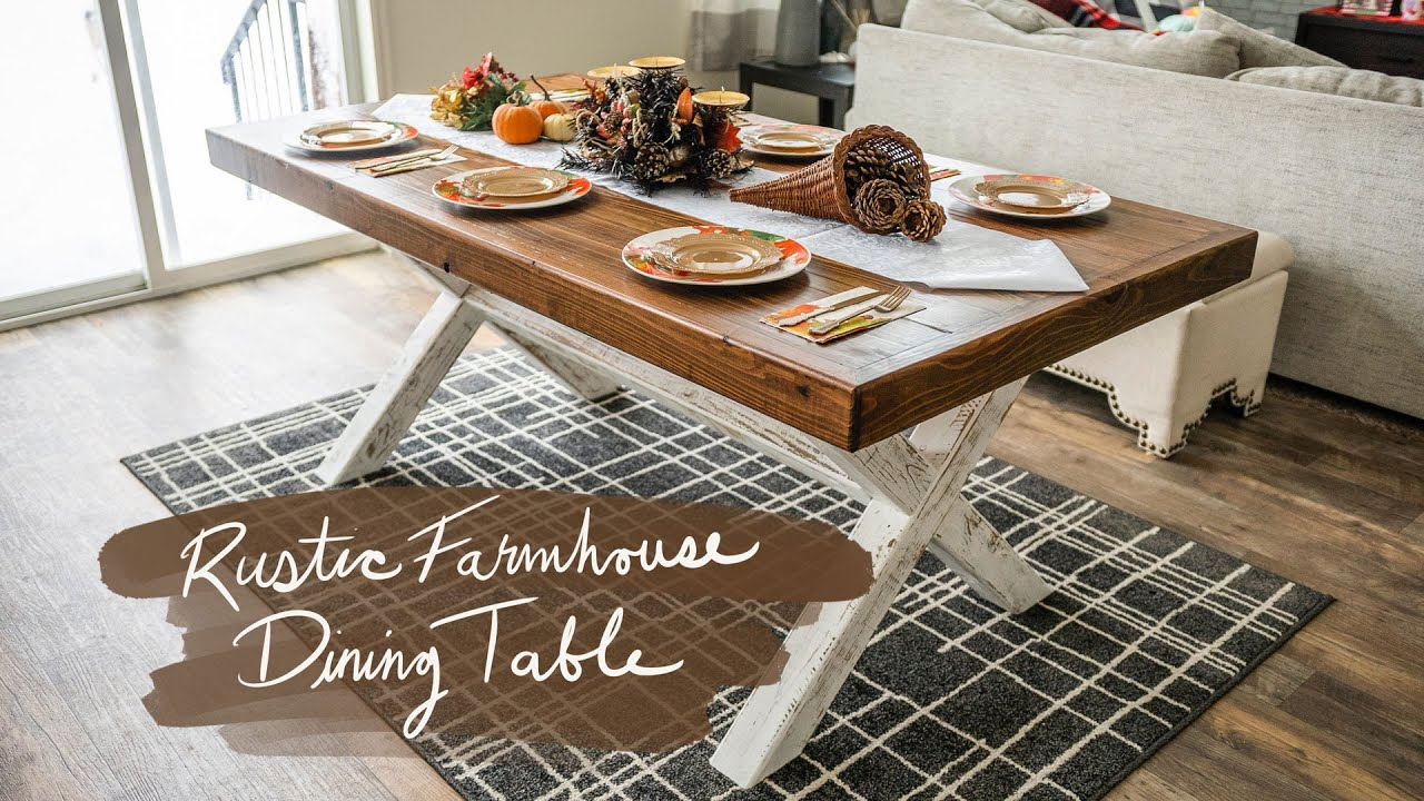 My First Time Building a Rustic Farmhouse Style Dining Room Table