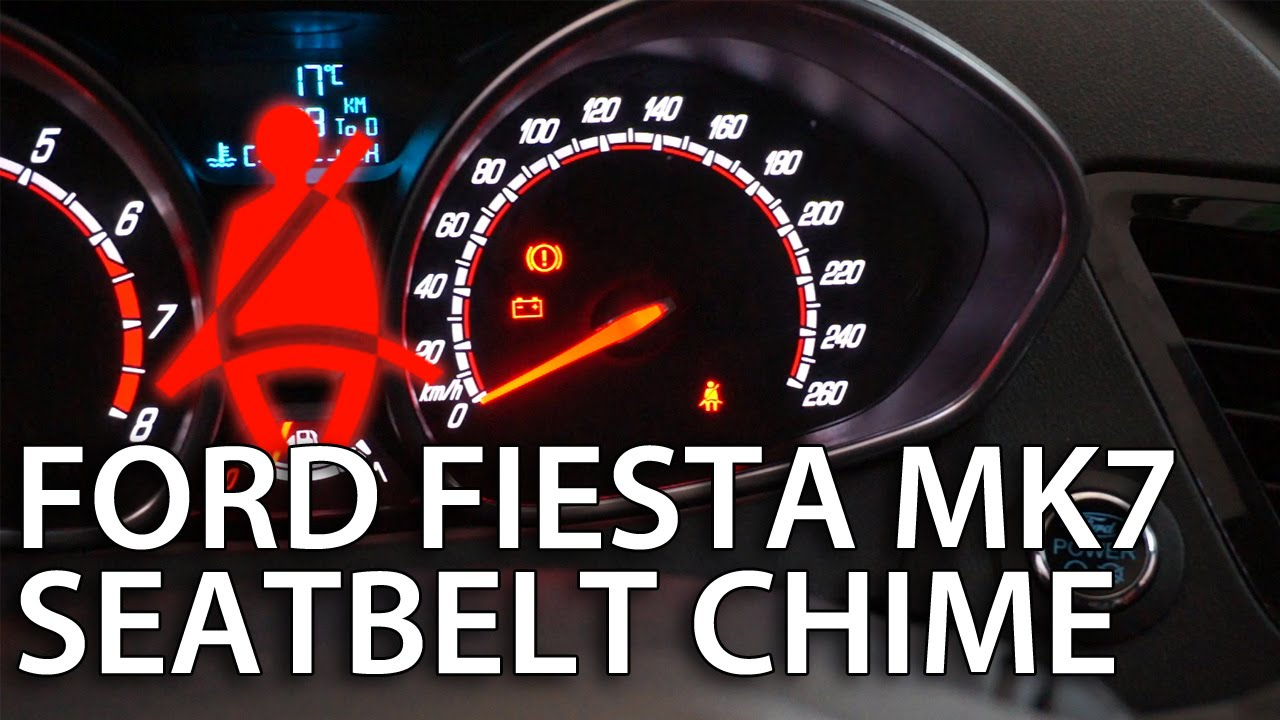 How To Disable Ford Fiesta Mk7 Seat Belt Chime Deactivate Safety Light Wiring Diagram Reminder Youtube