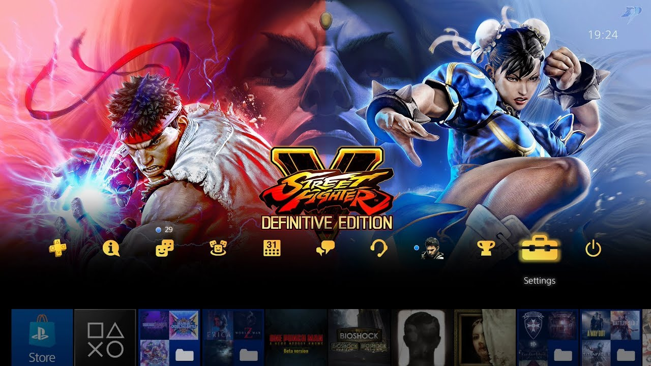 Street Fighter V Definitive Edition Special Ps4 Theme Youtube