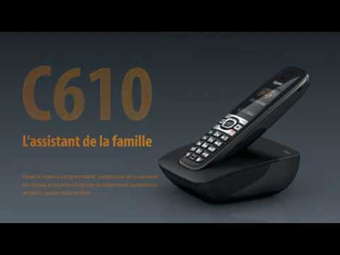 gigaset c610 t l phone sans fil dect meilleur rapport qualit prix vid o fr youtube. Black Bedroom Furniture Sets. Home Design Ideas