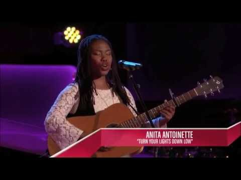 The Voice Audition - Anita Antoinette singing Bob Marley feat. Lauryn Hill Turn Your Lights Down Low