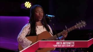the voice audition anita antoinette singing bob marley feat lauryn hill turn your lights down low