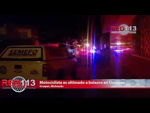 VIDEO Motociclista es ultimado a balazos en Uruapan