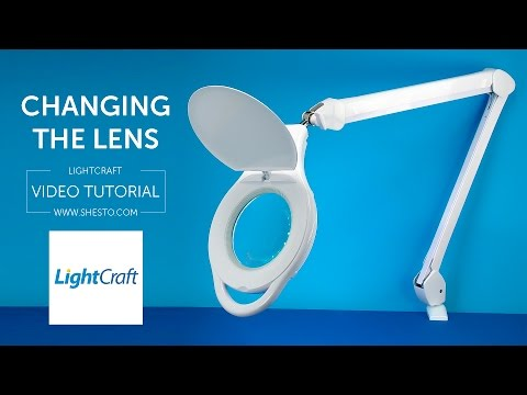 How To Change Lens Of Your Light Craft LED Long Reach Magnifier Lamp