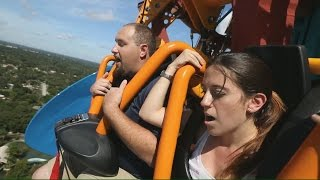 Attractions hosts dive face-first on Falcon's Fury at Busch Gardens