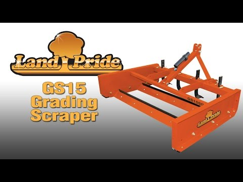 Land Pride GS15 Grading Scrapers - YouTube