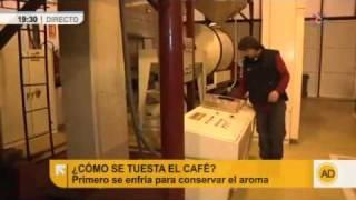 Visitamos una fábrica de café