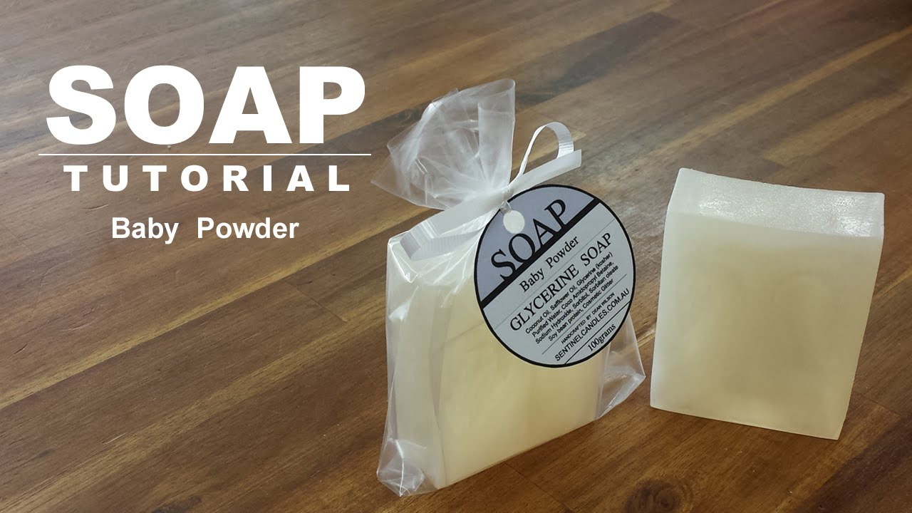 Baby Powder Scented Melt And Pour Soap Youtube