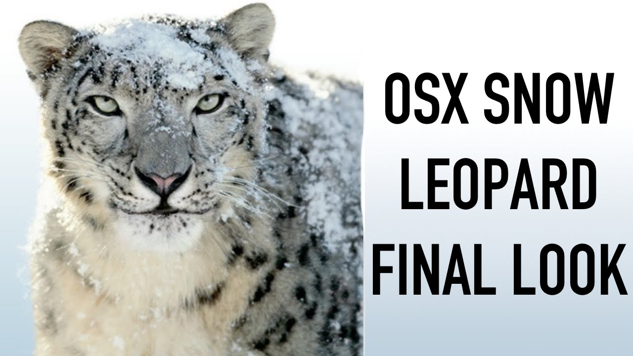 Forget Yosemite, Snow Leopard is awesome!