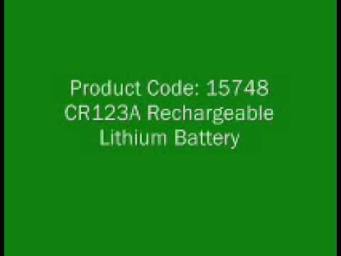 CR123A Rechargeable Lithium Battery