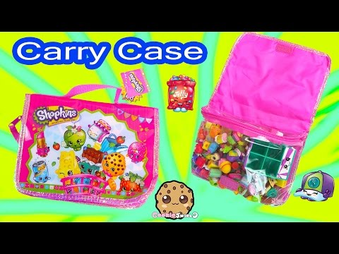 Shopkins Carrier Carrying Case Bag For Seasons 1, 2, And 3 Collections Cookieswirlc Review Video