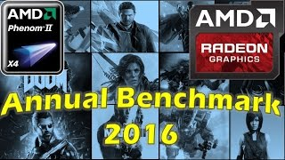 HD 7850/R7 265/R7 370 | Phenom II X4 GAMING |  21 Game Tests of 2016 in 40 Minutes
