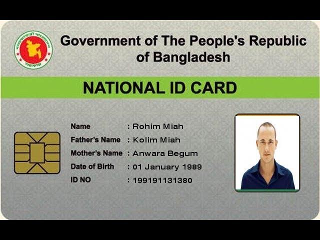 Download How To Make Fake Bd Nid Smart Card Free 2954