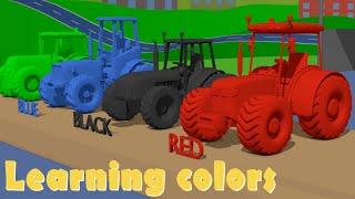 Colorful Car & Tractors - Learning colors - New Video | Kolorowe Auta i Traktory [ENG]