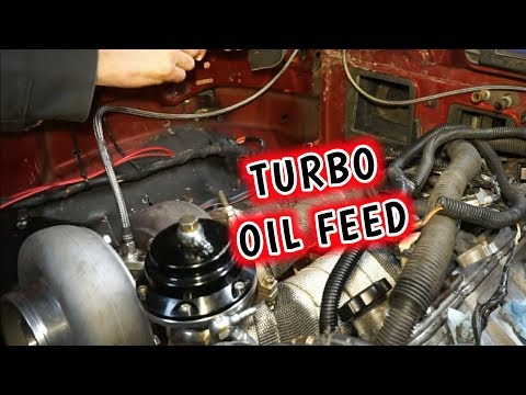 CHANGE TURBO OIL FEED - CHECK FOR METAL MAKE A HUGE MESS!!!