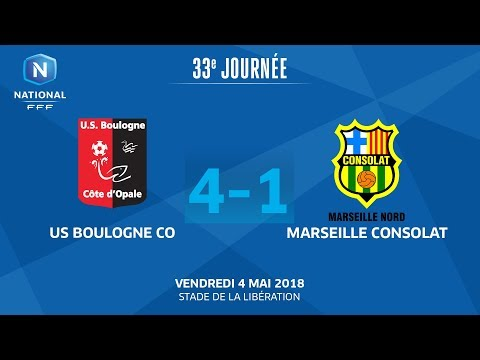 J33 : US Boulogne CO - Marseille Consolat (4-1), le replay I National FFF 2018