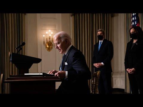 'Don't say Trump didn't warn you': Biden unveils 'climate change manifesto'