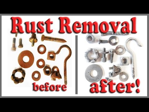 How To Remove Rust From Nuts Bolts Tools And Parts In Bulk Using Electrolysis
