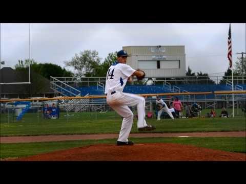 Logan Clark pitching for Bayou Academy