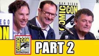 SHERLOCK Season 4 Comic Con Panel (Part 2) - Benedict Cumberbatch, Mark Gatiss, Amanda Abbington