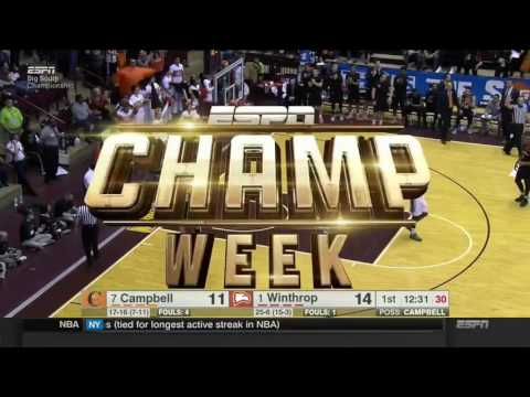 Winthrop vs  Campbell Big South Championship 2017