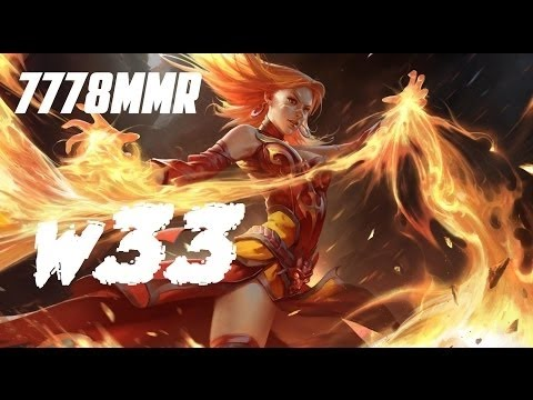 Dota 2 | Secret w33 7778 MMR Pro Lina Ranked Match