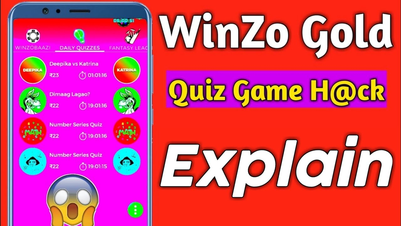 WinZo Gold Quiz Game H@ck Full Explain How Its Work | Watch Full Video Please | TrickySK