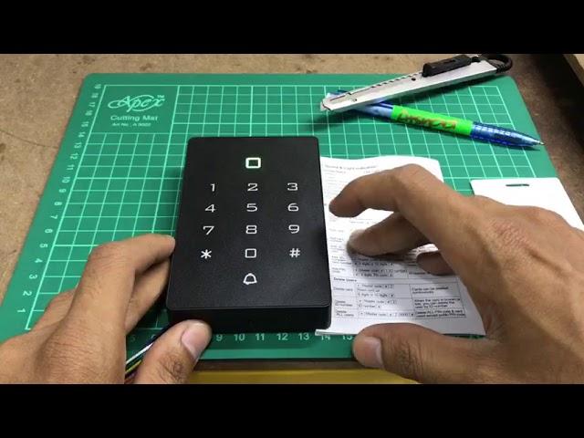 Tutorial K12 Door Access Add Card or Pin