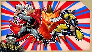 Král THOR VS. WOLVERINE s Phoenix Force   EPICKÁ Bitka na konci všeho času!!