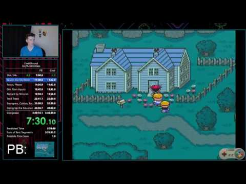 EarthBound Any% Glitchless 3:47:41 speedrun world record