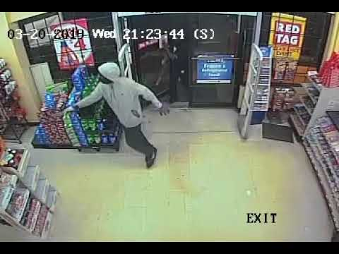 Surveillance Video Of Family Dollar Robbery Attempt