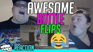 Video AMAZING WATER BOTTLE FLIPS - DUDE PERFECT REACTION!!🔥 ! download MP3, 3GP, MP4, WEBM, AVI, FLV November 2018