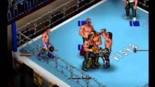 Fire Pro Wrestling Returns: 2 vs. 3 Handicap Barbed Wire Death Match #2 (Rematch)