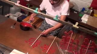 2015年岸和田だんじり祭り1日目:屋台飴細工のおっちゃんの技術がすごい