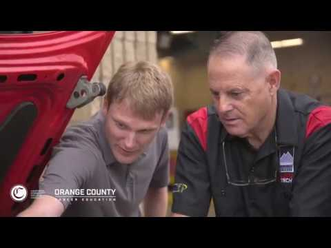 Orange County Community College Automotive Student, Pete