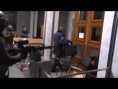 Ukraine War - Russian special forces seize Crimean Parliament in Simferopol Ukraine