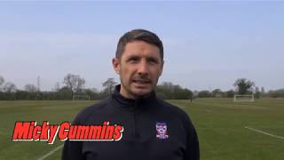 Micky Cummins pre-match interview (City V Spennymoor)