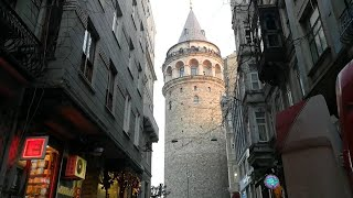 Walking Tour | Galata Tower | Beyoğlu | İstanbul |Turkey 18 February 2019