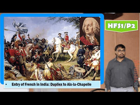 HFS1/P2: Entry of French in India:Lord Dupliex to Treaty of Aix-la-Chapelle(फ्रेंच आगमन)