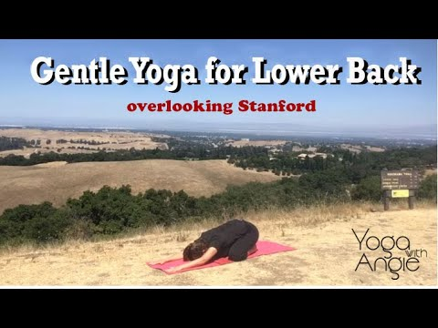 Gentle Yoga for the Lower Back - overlooking Stanford University - Yoga with Angie