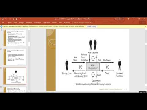 corporate liquidating distributions chapter 6